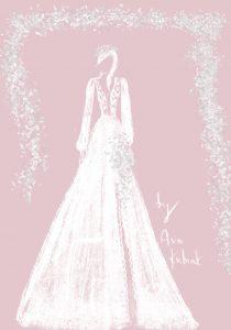 Szkic sukni ślubnej